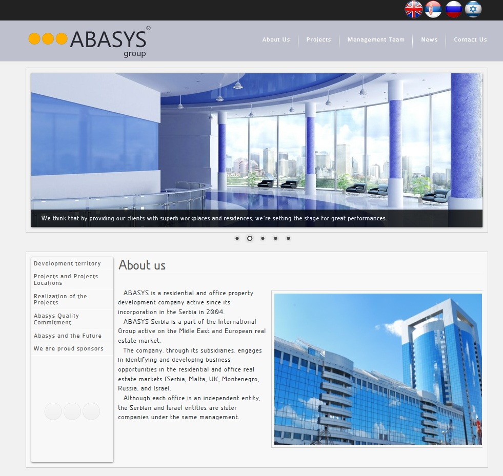 Web Dizajn za Abasys Group