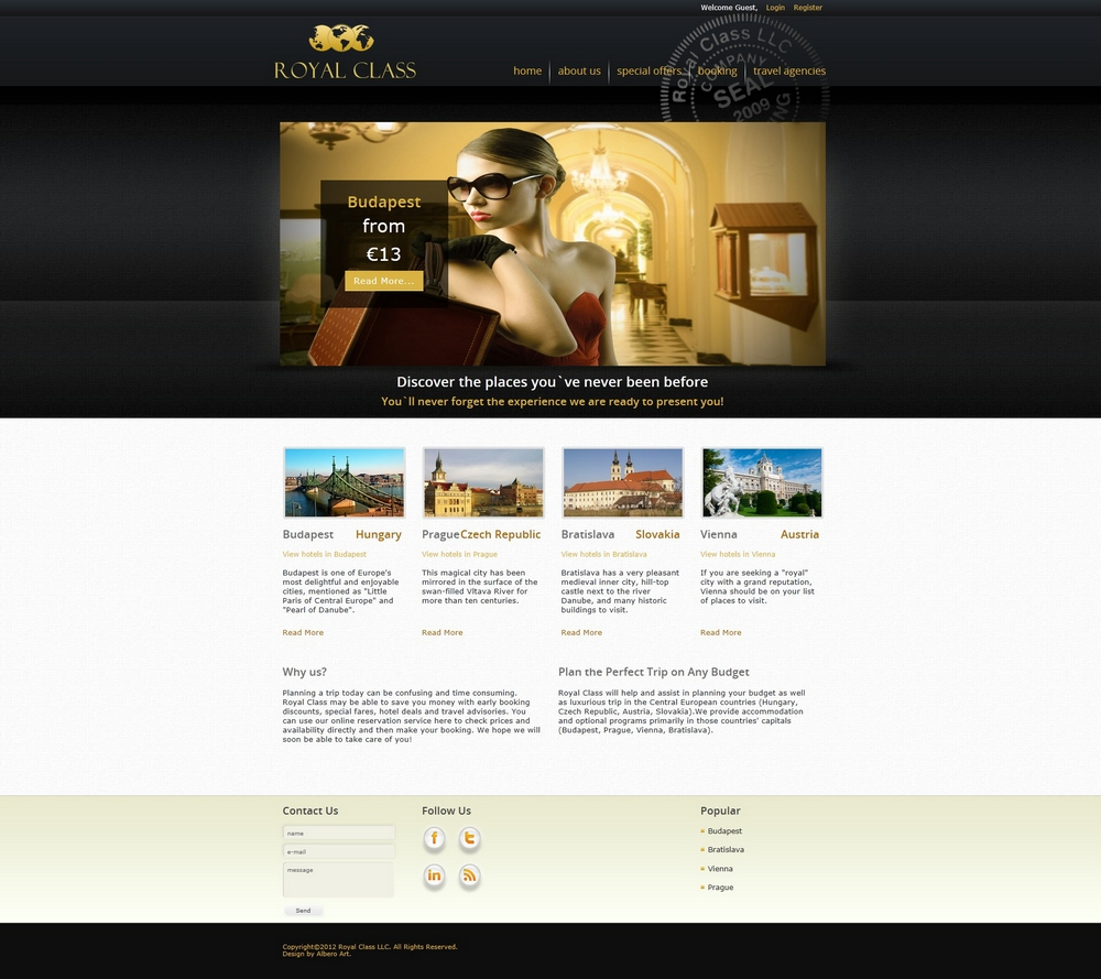 Web Dizajn za Royal Class