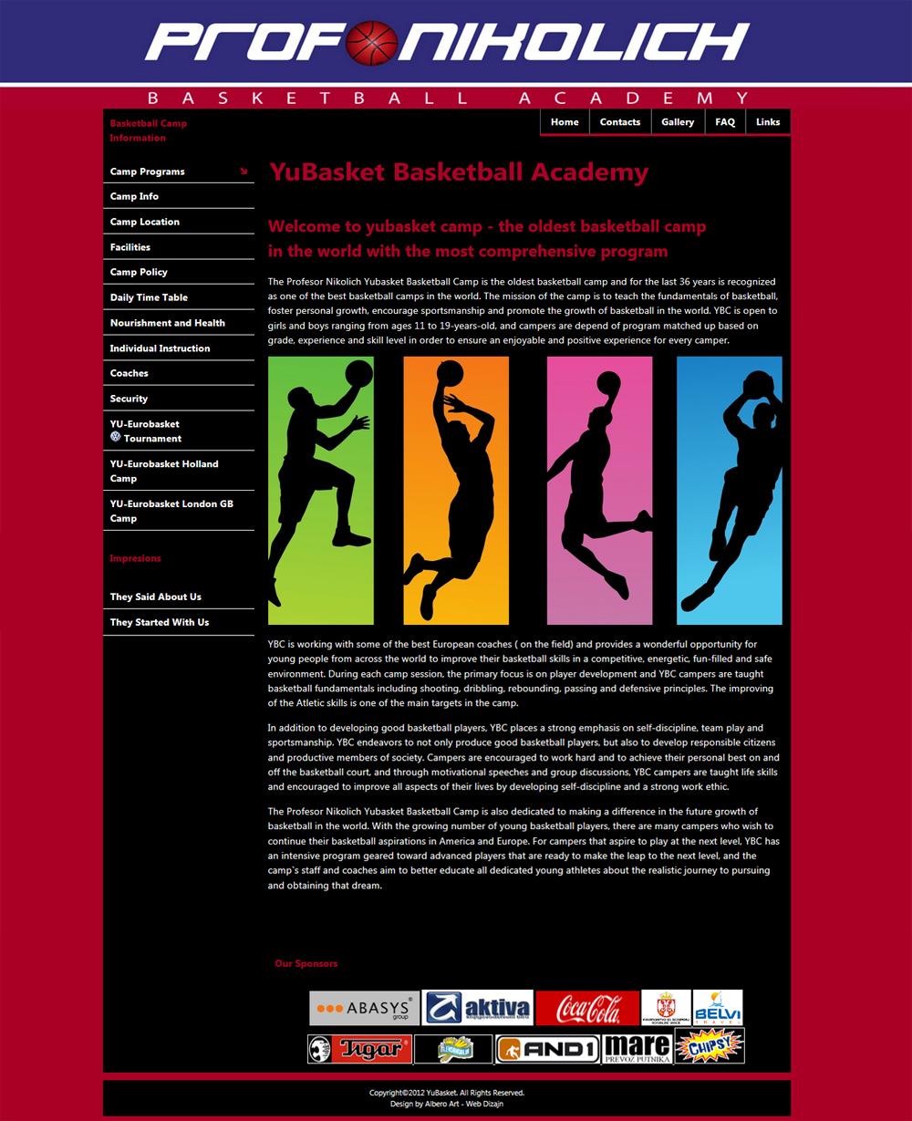 Web Dizajn za Yubasket