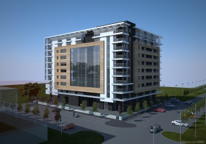 3d model zgrada Novi Beograd