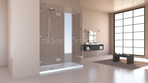 3d model bathroom bright