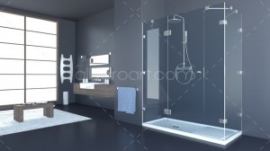 3d model bathroom gray
