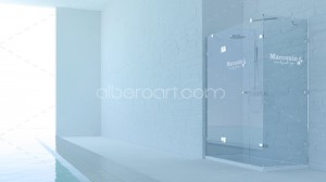 3d model pool bathroom